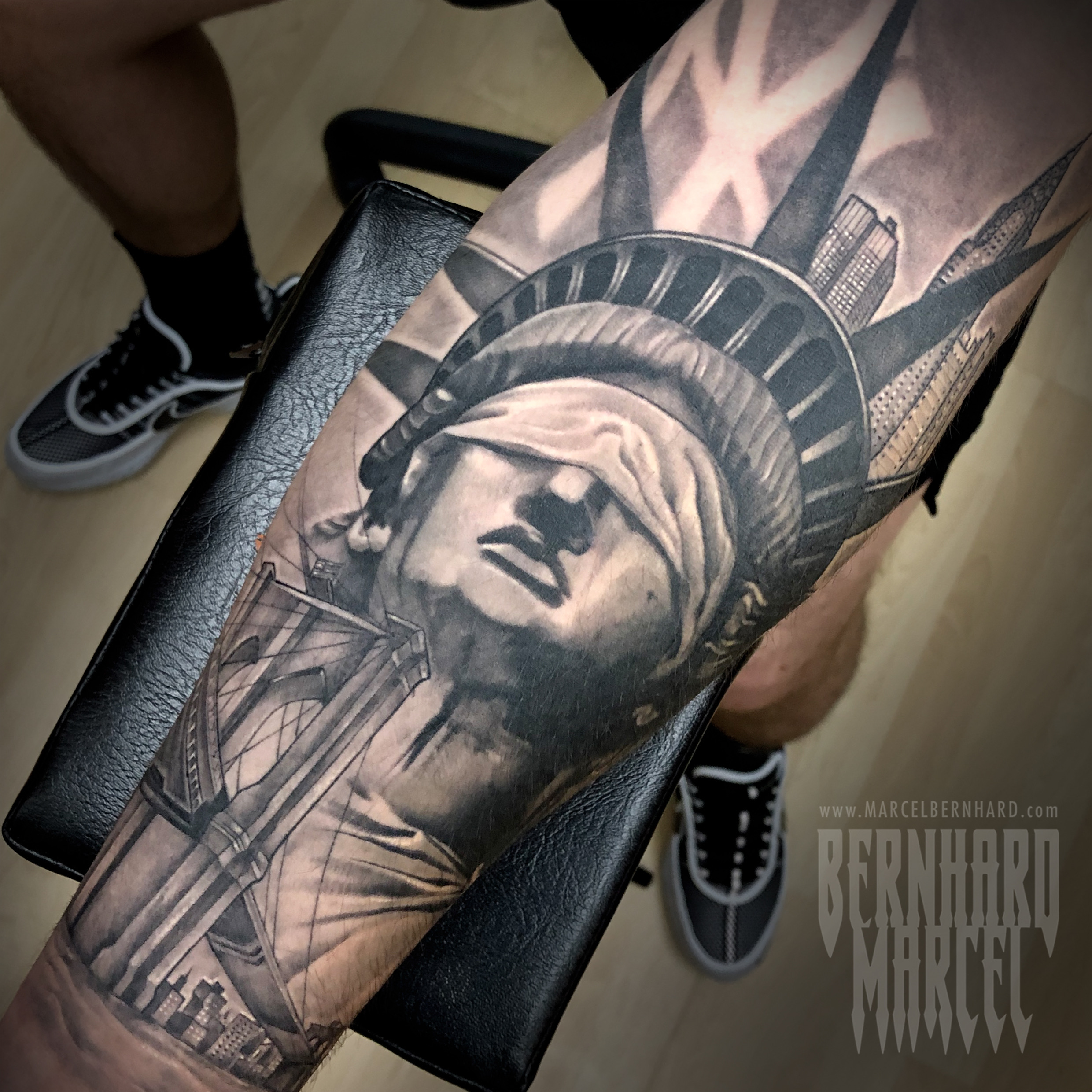Statue of Liberty Tattoo Marcel Bernhard